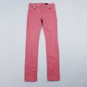 AG the prima mid-rise cigarette pink  26 skinny